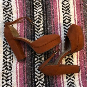 Faux Suede Platform Heels *Near perfect condition!